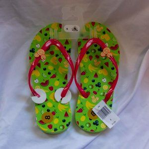 Disney Mickey Mouse Fruit Flip Flops